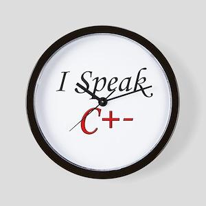 """I Speak C+-"" Wall Clock"