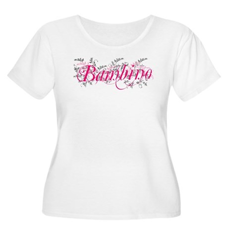 Bambino Women's Plus Size Scoop Neck T-Shirt