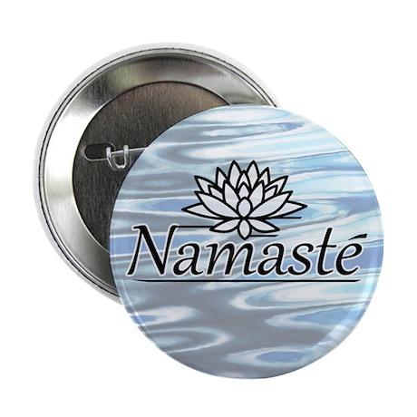 "Namaste Lotus Ripple 2.25"" Button"