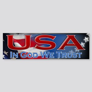 USA - In God We Trust - Sticker (Bumper)