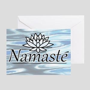 Namaste Lotus Ripple Greeting Card