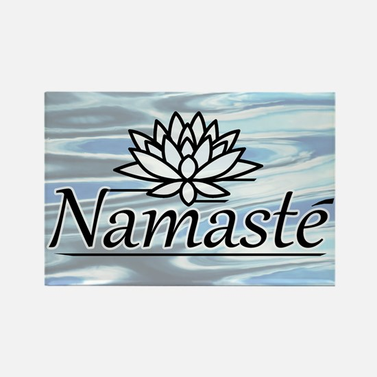 Namaste Lotus Ripple Rectangle Magnet (100 pack)