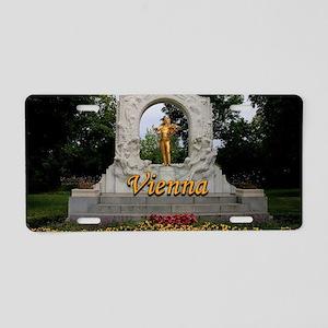 Vienna: Johann Strauss II m Aluminum License Plate