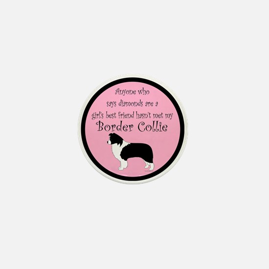 Girl's Best Friend - Border C Mini Button