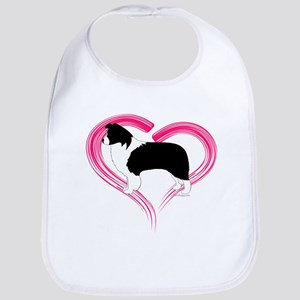 Heart Border Collies Bib