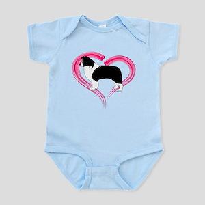 Heart Border Collies Infant Bodysuit