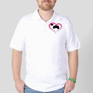 Heart Border Collies Golf Shirt