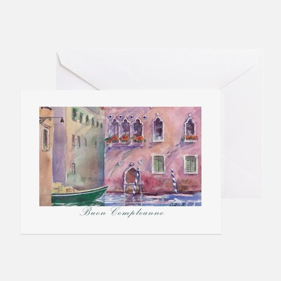 Venice Italian Birthday Card