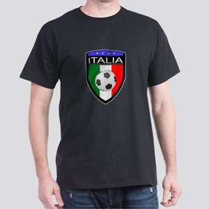 Italia Soccer Patch Dark T-Shirt