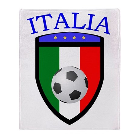 Italian Soccer Throw Blanket