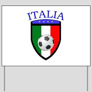 Italian Soccer Yard Sign