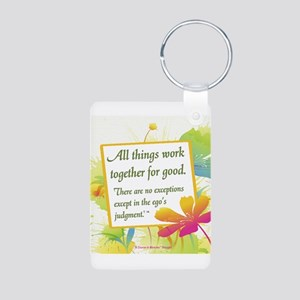 ACIM-All Things Work Together Aluminum Photo Keych