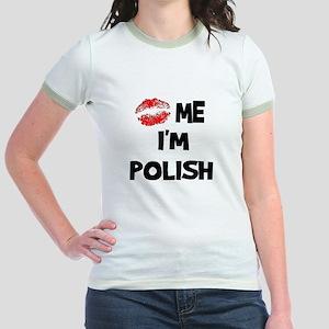 Kiss Me I'm Polish Jr. Ringer T-Shirt
