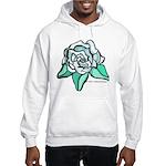 White Rose Tattoo Styled Hooded Sweatshirt