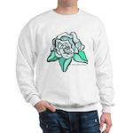 White Rose Tattoo Styled Sweatshirt
