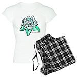 White Rose Tattoo Styled Women's Light Pajamas