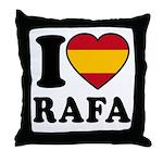 I Love Rafa Nadal Throw Pillow