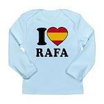 I Love Rafa Nadal Long Sleeve Infant T-Shirt