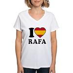 I Love Rafa Nadal Women's V-Neck T-Shirt