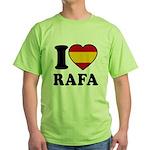 I Love Rafa Nadal Green T-Shirt