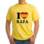 I Love Rafa Nadal Yellow T-Shirt