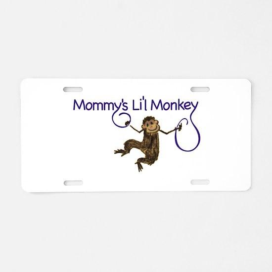 Mommy's Li'l Monkey Aluminum License Plate