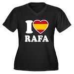 I Love Rafa Nadal Women's Plus Size V-Neck Dark T-