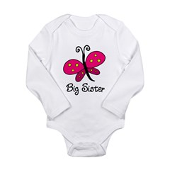 Butterfly Lil Sis Long Sleeve Infant Bodysuit