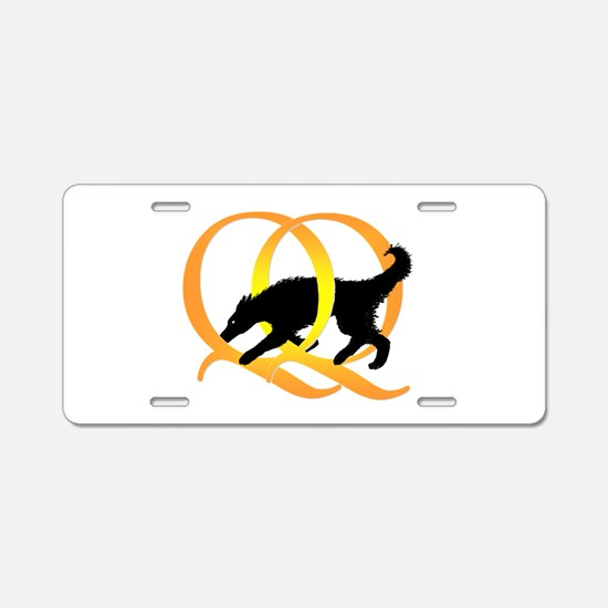QQ Agility Dog Aluminum License Plate