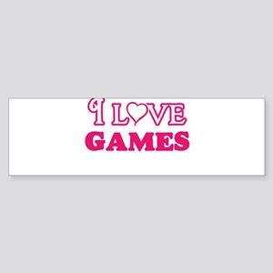 I Love Games Bumper Sticker