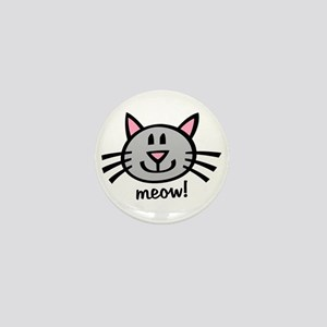 Lil Grey Cat Mini Button