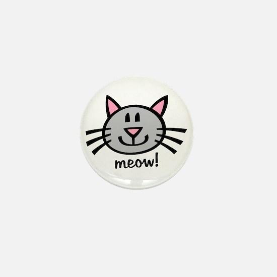 Lil Grey Cat Mini Button