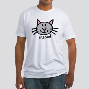 Lil Grey Cat Fitted T-Shirt