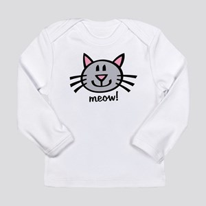 Lil Grey Cat Long Sleeve Infant T-Shirt