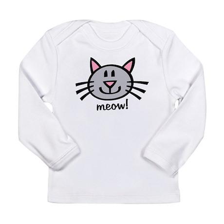 Lil Grey Cat Long Sleeve Infant T-Shirt