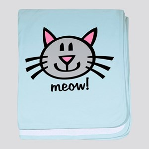 Lil Grey Cat baby blanket