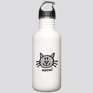 Lil Grey Cat Stainless Water Bottle 1.0L