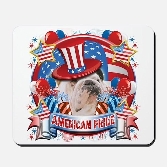 American Pride Bulldog Mousepad