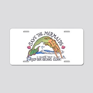 Save the Mermaids Aluminum License Plate