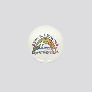 Save the Mermaids Mini Button
