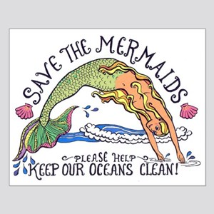 Save the Mermaids Small Poster