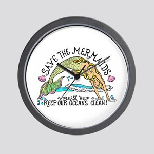 Save the Mermaids Wall Clock