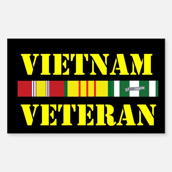 Vietnam Veteran Sticker (Rectangle)