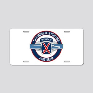 10th Mountain with CIB Aluminum License Plate