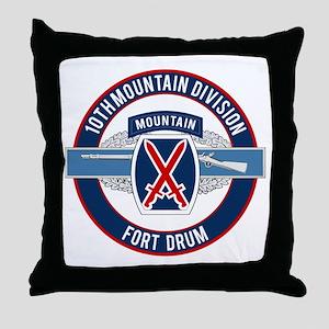 10th Mountain with CIB Throw Pillow