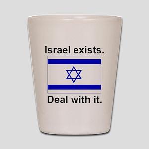 Israel Exists Shot Glass
