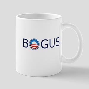 Bogus Blue Text Mug