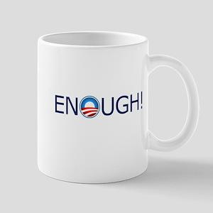 Enough! Blue Text Mug