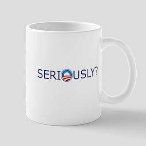 Seriously? Blue Text Mug
