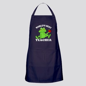 Frog Teacher Apron (dark)